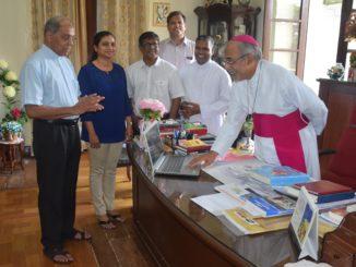 Archbishop Filipe Neri Ferrao Launching Povitr Pustok - Konkani Bible App